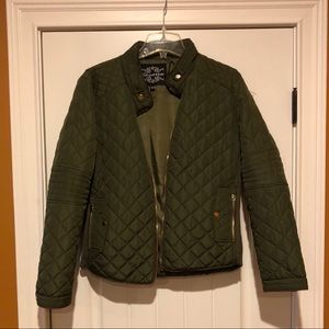NWOT Army Green Puffer Jacket